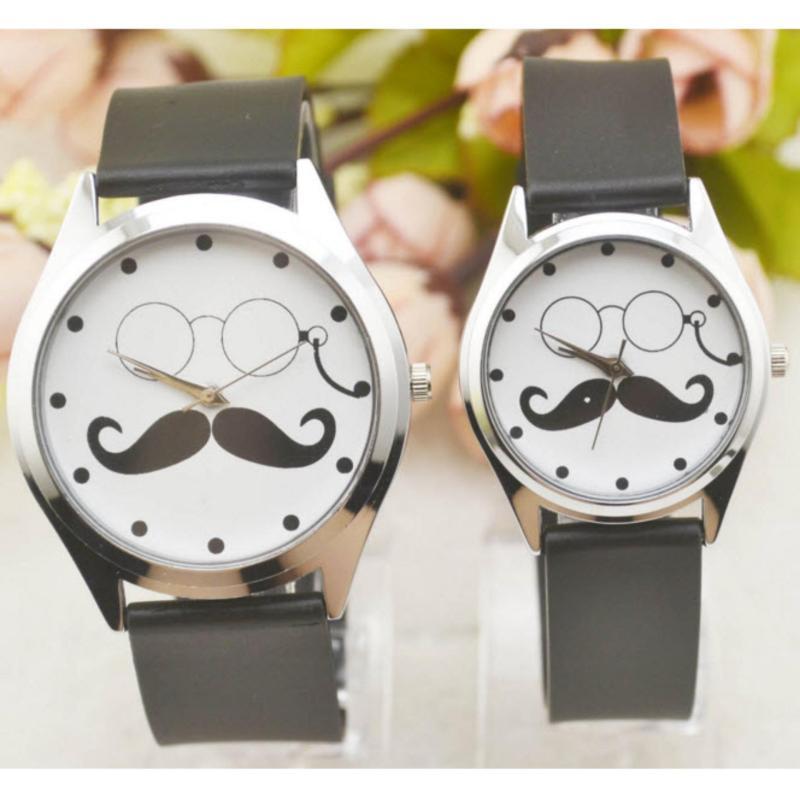Nơi bán Đồng hồ cặp họa tiết râu cá tính