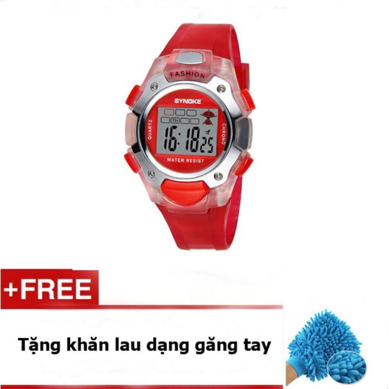 Đồng hồ cho bé gái Synoke 99319 đỏ + quà tặng bán chạy