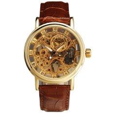 Đồng hồ cơ lộ máy dây da SEWOR DHSW5568 (Nâu)