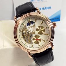 Đồng hồ CƠ nam dây da chạy 5kim thương hiệu SEWOR 9916
