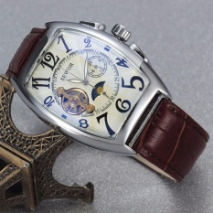 Đồng hồ cơ nam dây da lộ máy SEWOR cổ điển 5 kim TP-SW01