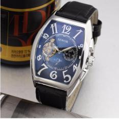 Đồng hồ cơ nam dây da lộ máy SEWOR cổ điển TP-SW01