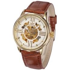 Đồng hồ cơ nam dây da nâu SEWOR mặt số la mã SEW88 (Mặt Trắng)