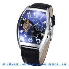 Đồng hồ Cơ Nam dây da SEWOR cổ điển chạy 5 kim SEV0012A