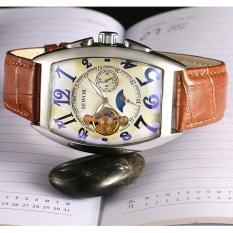 Đồng hồ cơ nam dây da lộ máy SEWOR cổ điển chạy 5 kim SEV012A