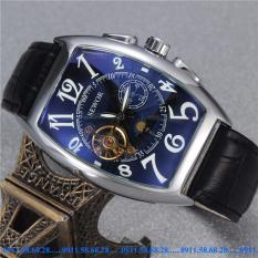 Đồng hồ Cơ Nam dây da SEWOR cổ điển chạy 5 kim SEV0012C