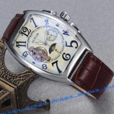 Đồng hồ Cơ Nam dây da SEWOR cổ điển chạy 5 kim SWV001