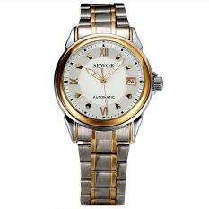 Đồng hồ cơ nam dây thép dermi SEWOR SEW3689 (Mặt trắng)