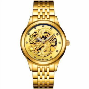 Đồng hồ cơ Tevise mặt rồng (Vàng)