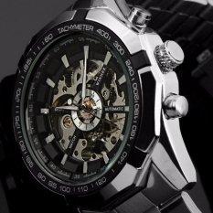 Đồng hồ cơ Winner lộ máy (Đen)