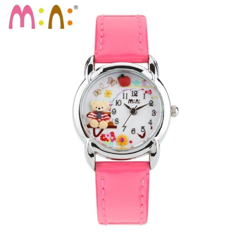 Đồng hồ dây da Bé gái Mini Hàn Quốc 055MI (Hồng) bán chạy