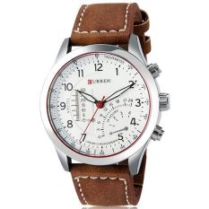 Đồng hồ dây da nam Curren 3017 (Trắng)