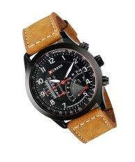 Đồng hồ dây da nam Curren 3019 (Đen)