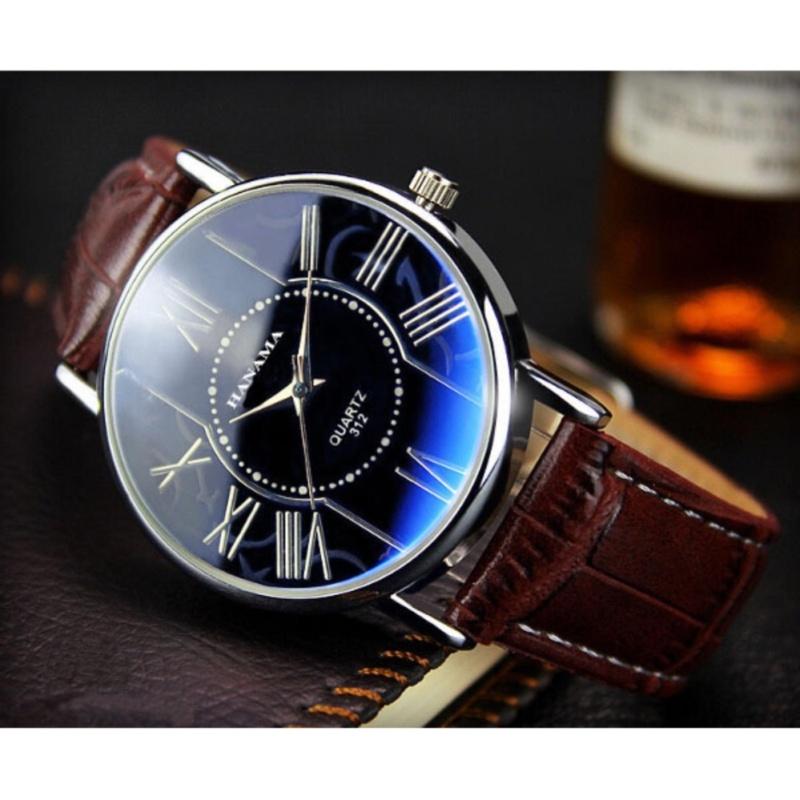 Nơi bán Đồng hồ dây da nam thời trang HANAMA 312