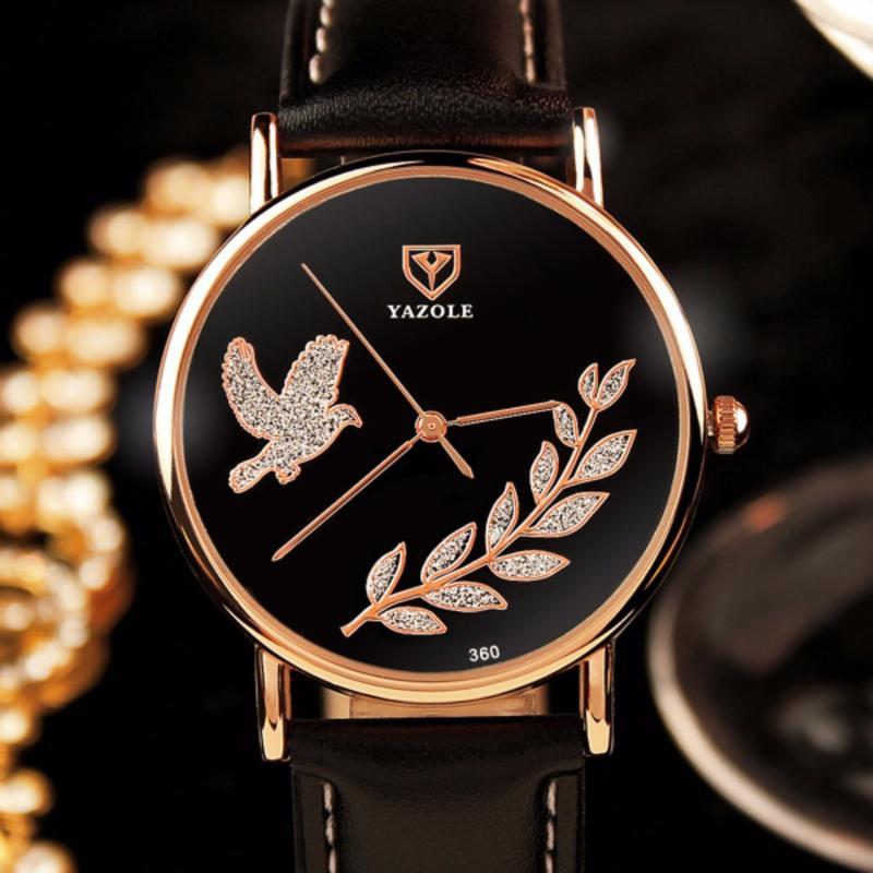 Nơi bán Đồng hồ dây da nữ Yazole 360 sang trọng