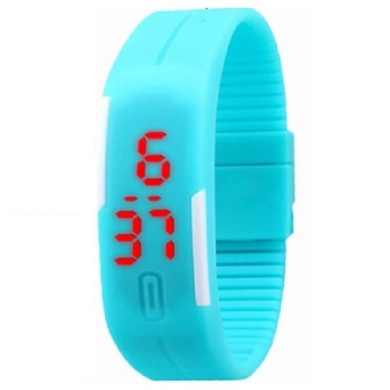 Đồng hồ dây nhựa dẻo Sport LED (Xanh nước biển) bán chạy