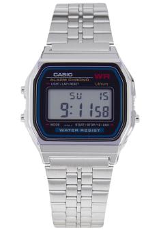 Đồng hồ dây thép không gỉ Casio A159W-N1DF (Bạc)