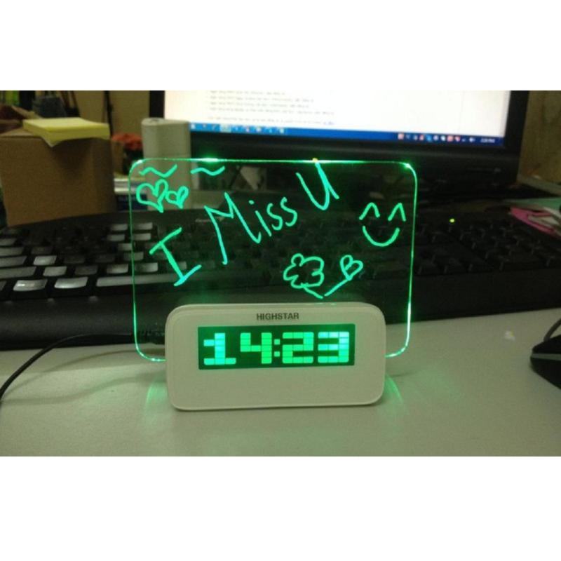 Nơi bán Đồng hồ để bàn có phát quang, báo thức gửi thông điệp yêu thương, lời nhắn