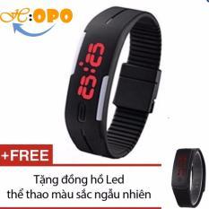 Đồng hồ đèn led thể thao (Đen) + Tặng 1 đồng hồ Led thể thao ( Màu Ngẫu Nhiên )