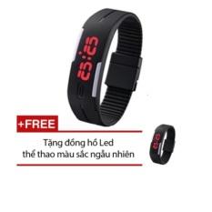 Đồng hồ đèn led thể thao (Đen) + Tặng 1 đồng hồ Led thể thao màu sắc ngẫu nhiên VDDSG