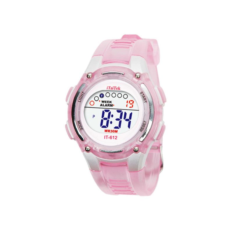 Đồng hồ đeo tay chống nước kỹ thuật số dành cho bơi lội của trẻ em màu hồng bán chạy