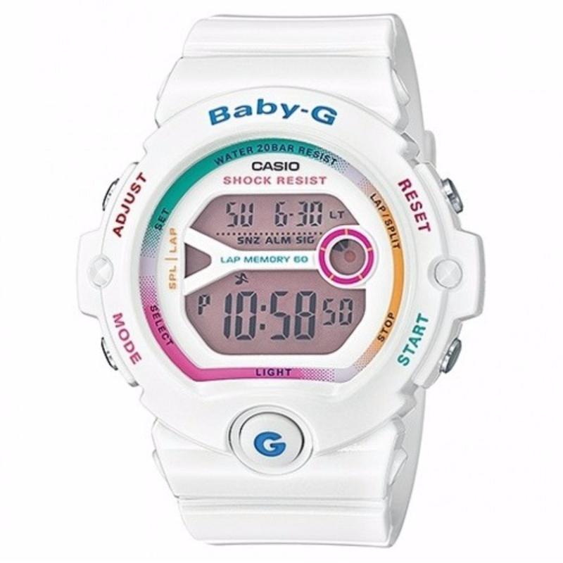 Nơi bán Đồng hồ đeo tay nữ dây cao su Baby-G BG-6903-7CDR(trắng)