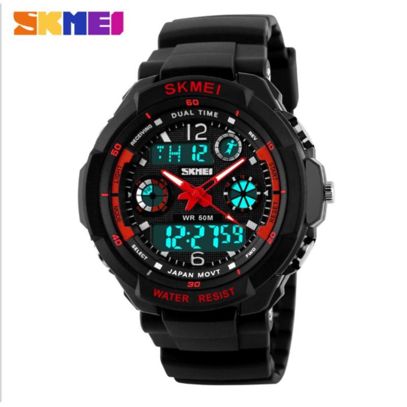 Nơi bán Đồng hồ đeo tay thể thao Skmei 0931 đồng hồ đeo tay chống thấm nước (RED)