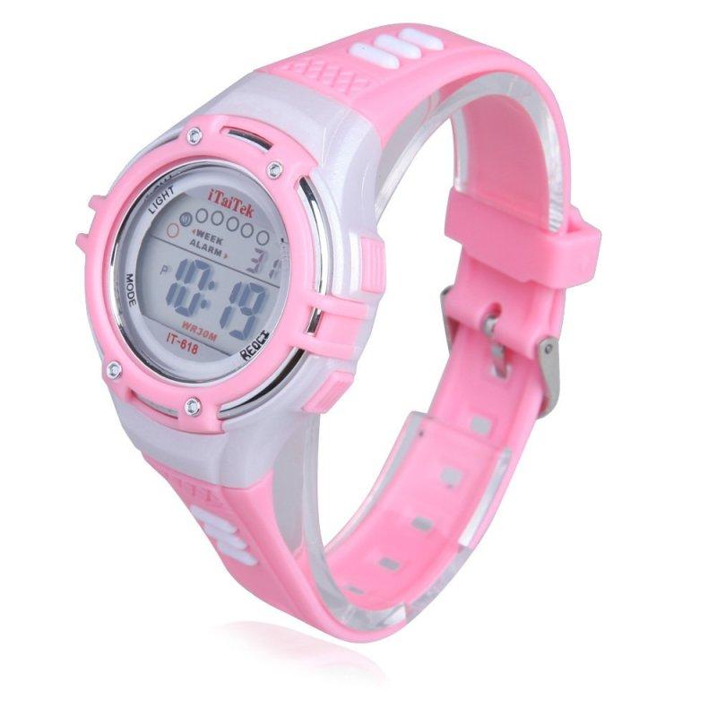 Đồng hồ điện tử đeo tay cho trẻ em chống nước 30M (Hồng) - Quốc tế bán chạy