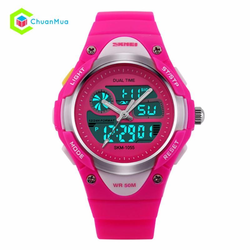 Đồng hồ Điện Tử Skmei 1055 Kid Time DHA488-D1687 - Hồng bán chạy