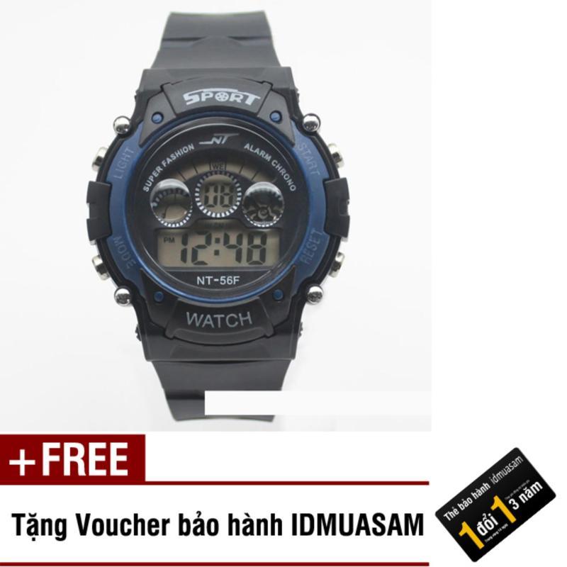 Đồng hồ điện tử trẻ em IDMUASAM 7467 (Xanh đen) + Tặng kèm voucher bảo hành IDMUASAM bán chạy