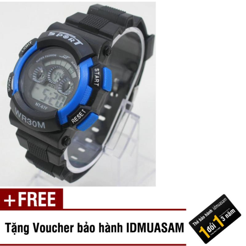Nơi bán Đồng hồ điện tử trẻ em IDMUASAM 7951 (Xanh dương) + Tặng kèm voucher bảo hành IDMUASAM