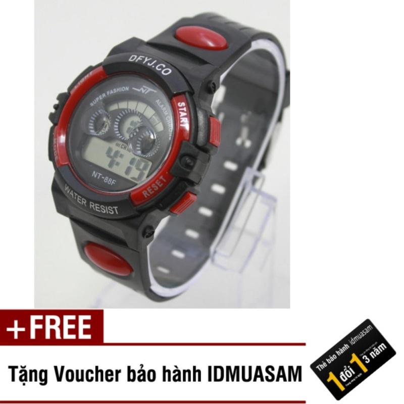 Nơi bán Đồng hồ điện tử trẻ em IDMUASAM 7994 (Đỏ) + Tặng kèm voucher bảo hành IDMUASAM