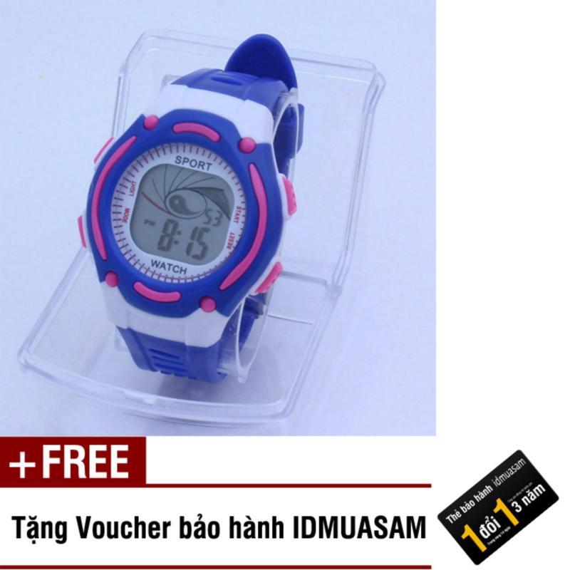 Nơi bán Đồng hồ điện tử trẻ em IDMUASAM S0831 (Xanh dương) + Tặng kèm voucher bảo hành IDMUASAM
