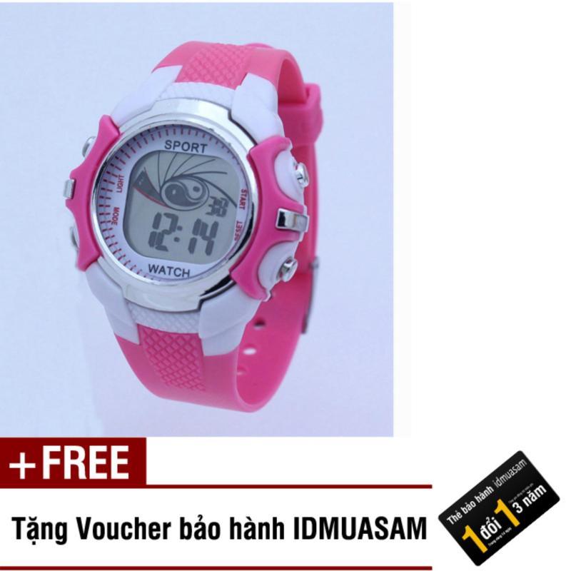 Nơi bán Đồng hồ điện tử trẻ em IDMUASAM S0851 (Hồng) + Tặng kèm voucher bảo hành IDMUASAM