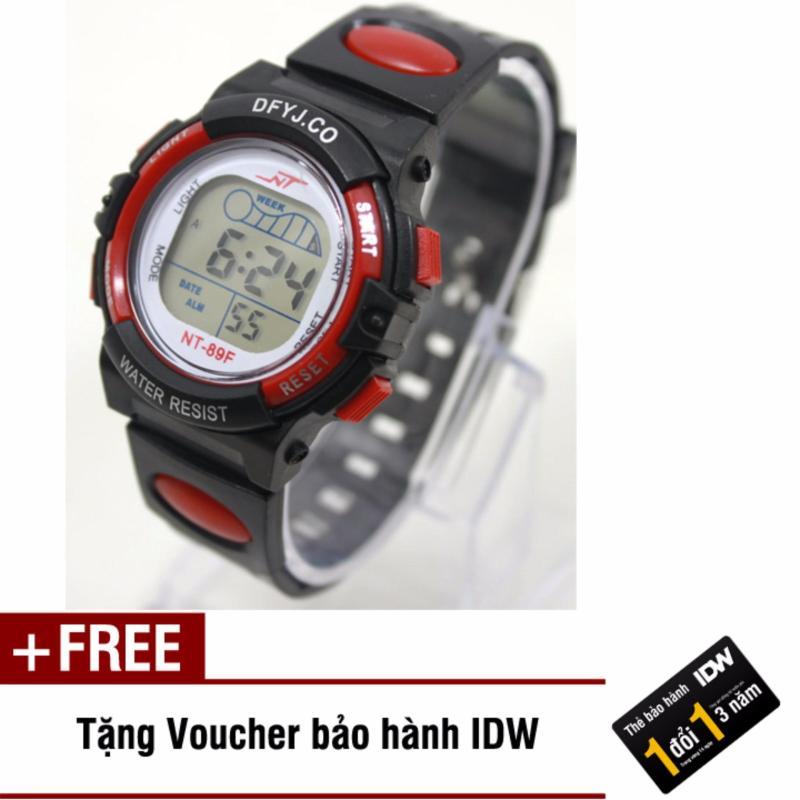 Đồng hồ điện tử trẻ em IDW 2442 (Đỏ) + Tặng kèm voucher bảo hành IDW bán chạy