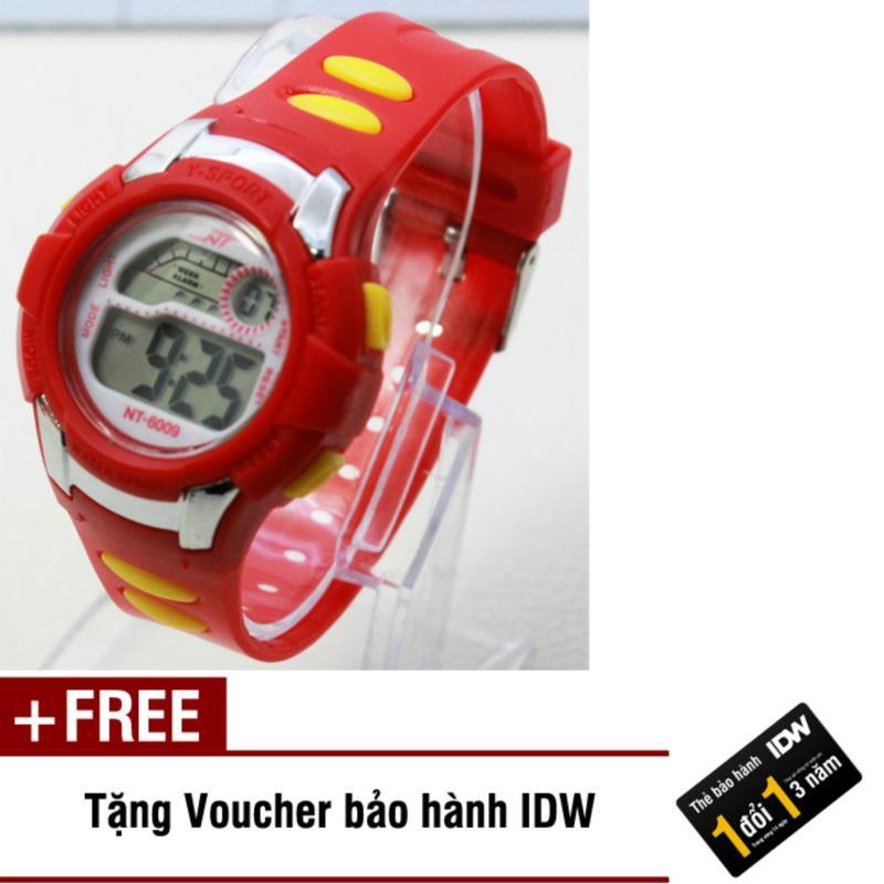 Đồng hồ điện tử trẻ em IDW 7912 (Đỏ) + Tặng kèm voucher bảo hành IDW bán chạy
