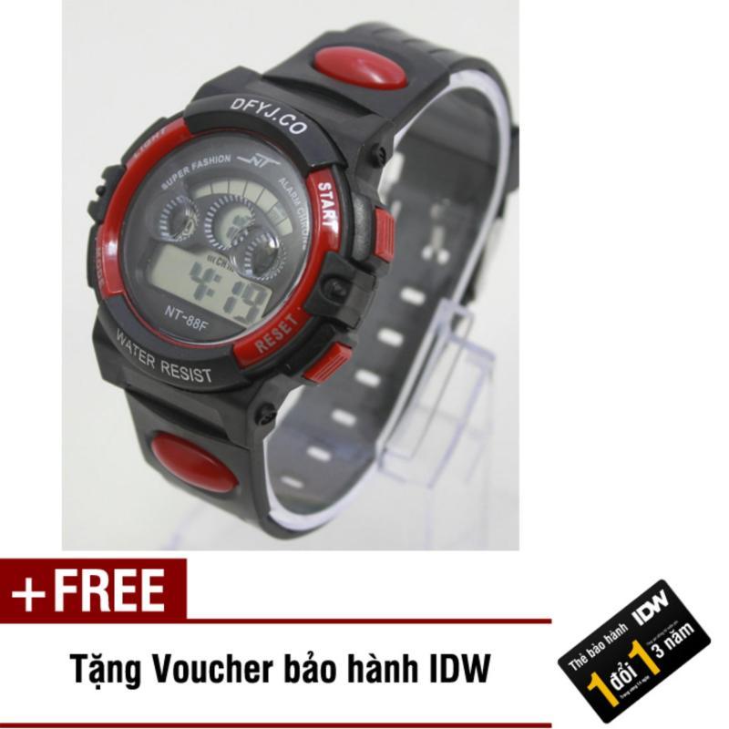Đồng hồ điện tử trẻ em IDW 7992 (Đỏ) + Tặng kèm voucher bảo hành IDW bán chạy