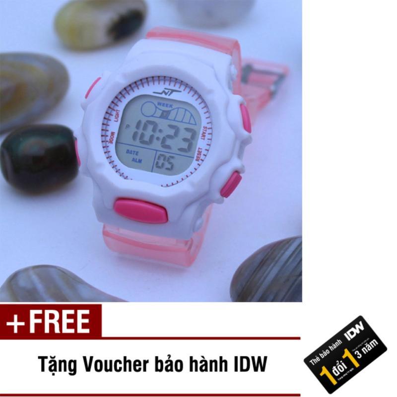 Đồng hồ điện tử trẻ em IDW S0821 (Hồng nhạt) + Tặng kèm voucher bảo hành IDW bán chạy