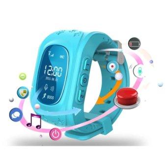 Đồng hồ định vị an toàn cho trẻ GPS SmartWatch (Xanh dương)