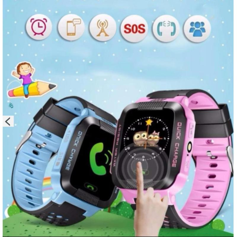 Đồng hồ định vị trẻ em thông minh GPS Tracker Y21G (Xanh Dương) bán chạy