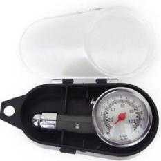 Đồng hồ đo áp suất lốp xe bằng cơ cho ô tô xe máy (Đen)