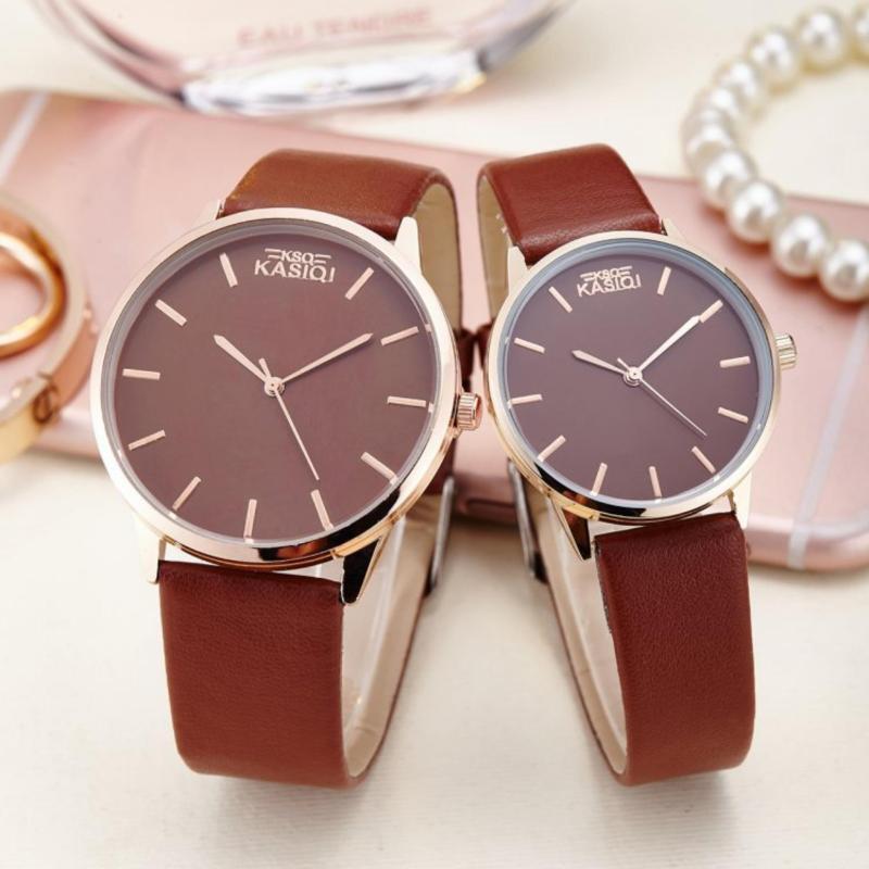 Nơi bán Đồng hồ đôi dây da phong cách Hàn Quốc