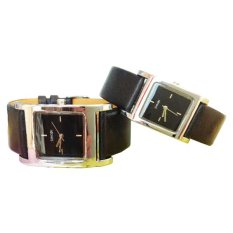 Đồng hồ đôi dây da Sinobi S9155G (Đen)