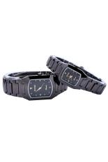 Đồng hồ đôi dây thép không gỉ Sinobi 3582 (Đen)