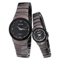 Đồng hồ đôi dây thép không gỉ Sinobi 91KN39 (Đen)