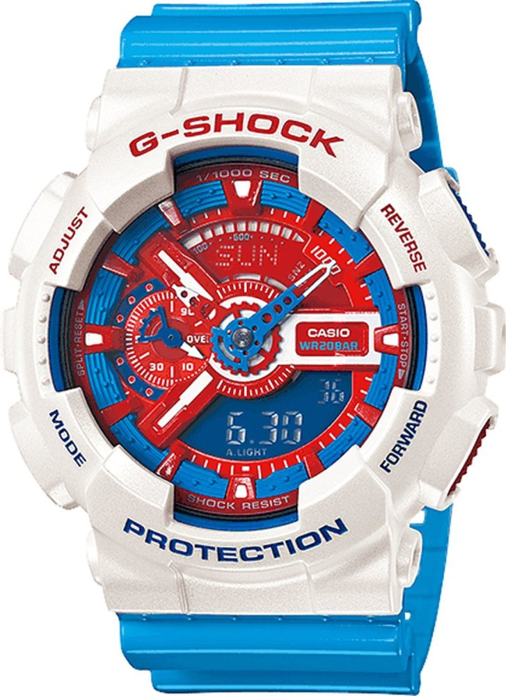 Đồng hồ G-Shock ga-110ac-7a (Trắng xanh)