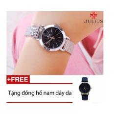 Đồng hồ Hàn Quốc Julius JU970 + Tặng 01 đồng hồ nam dây da GV005