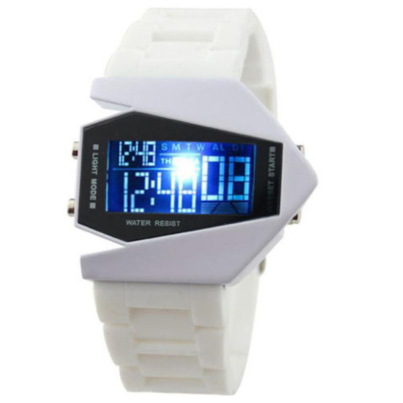 Nơi bán Đồng hồ Led phi thuyền 7 màu dây nhựa USS LED001 (Trắng)