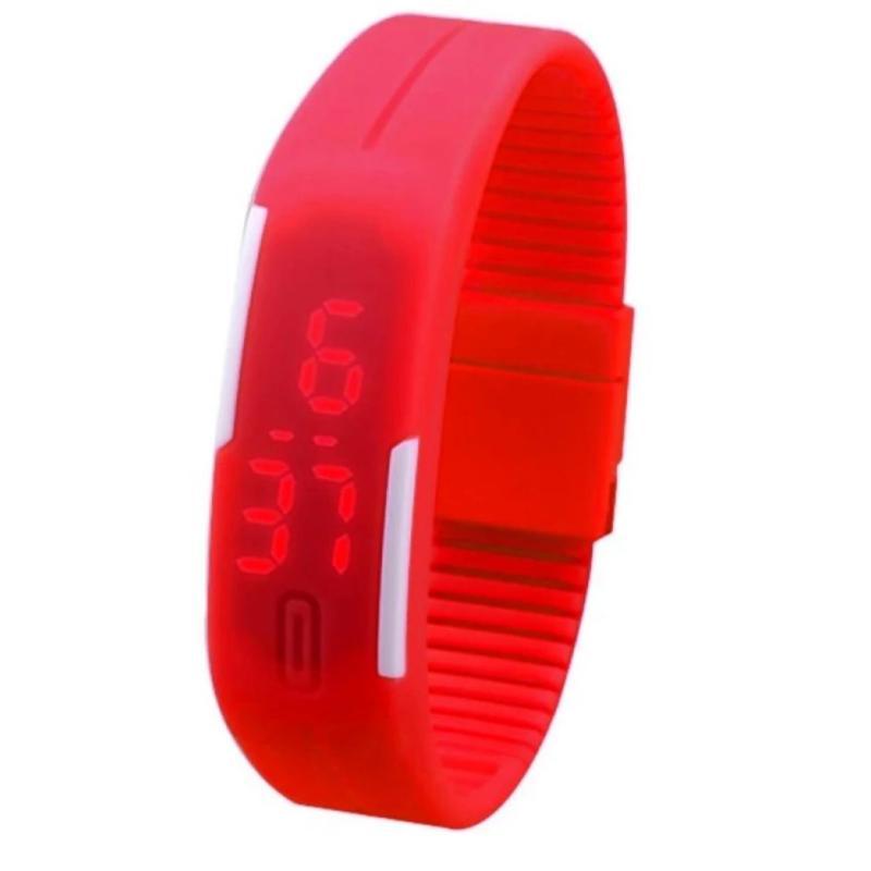 Đồng hồ LED silicon kiêm vòng tay (Cam) bán chạy