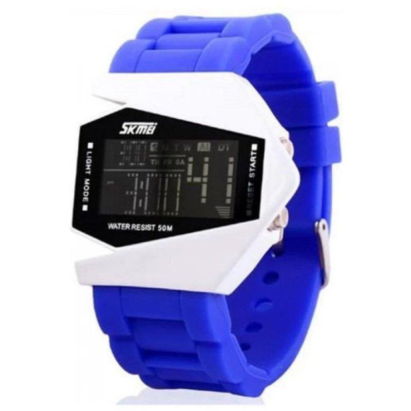 Nơi bán Đồng hồ LED SKMEI dây nhựa dành cho trẻ em 0817b (Xanh)